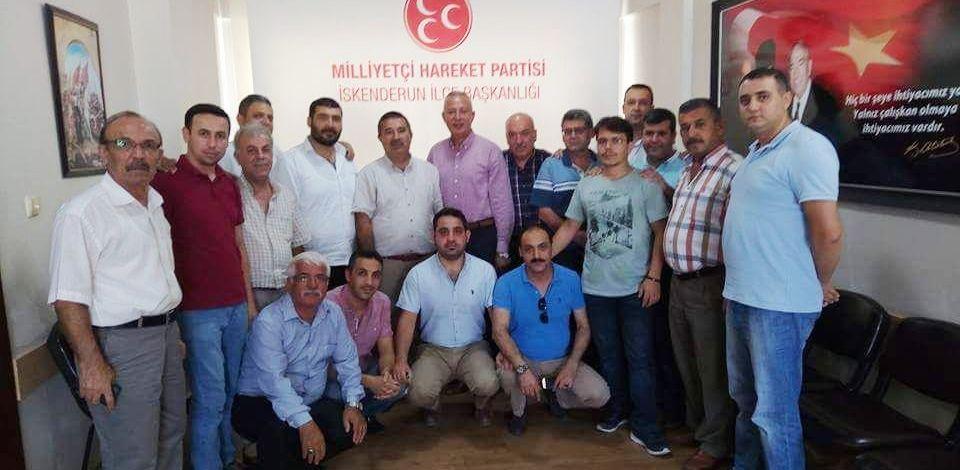 ECZACI TEKNİSYENLERİ'NDEN MHP'YE ZİYARET
