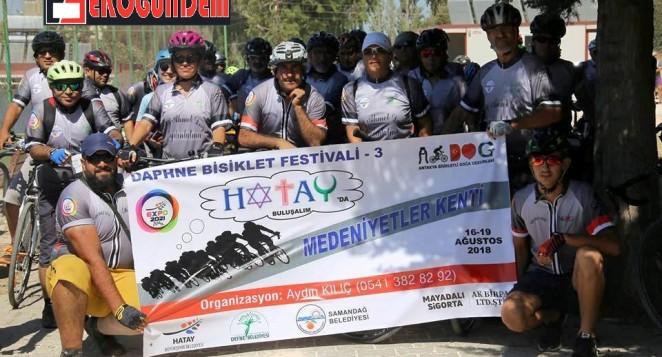 Daphne Bisiklet Festivalinde pedallar atıldı
