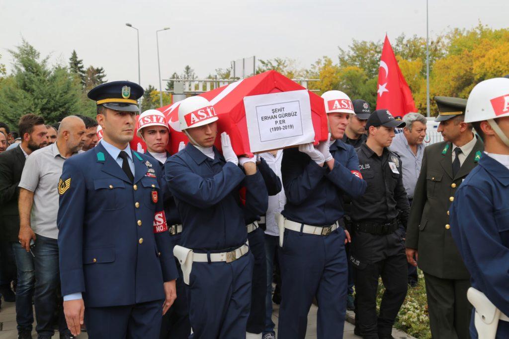 Şehit Erhan Gürbüz'e Son Görev